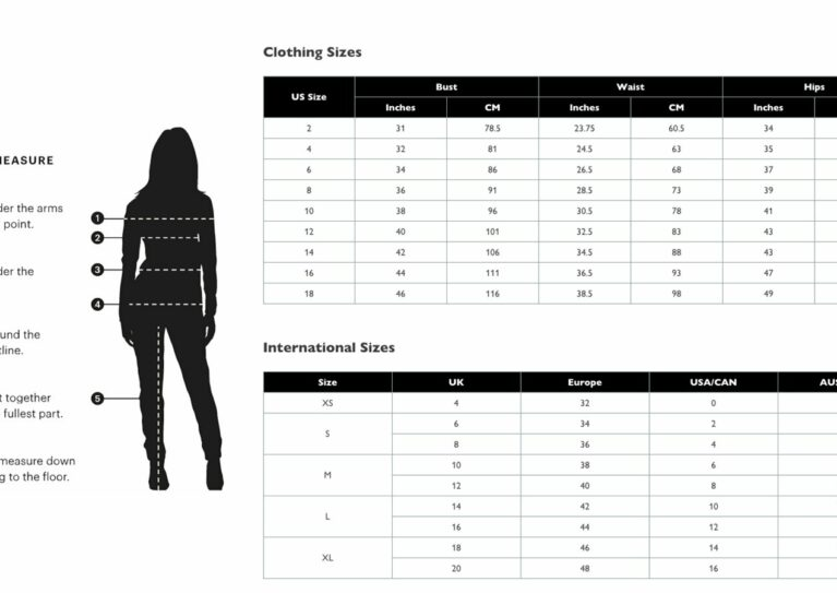 Shopify size chart app