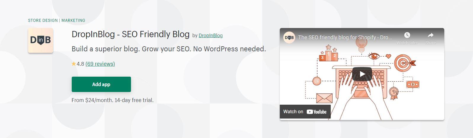 Shopify Blog app