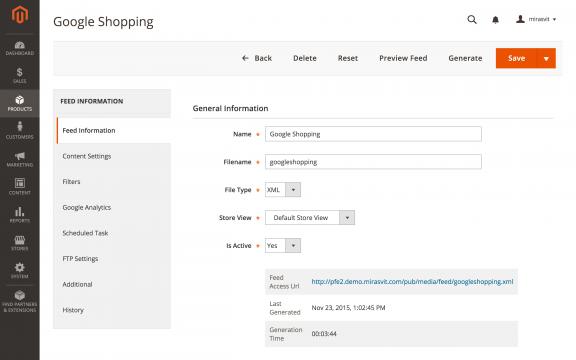 Google shopping Magento extension