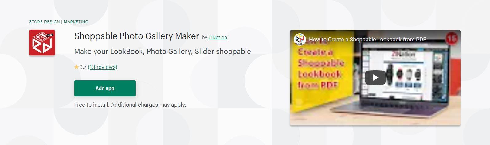 Shoppable Photo Gallery Maker
