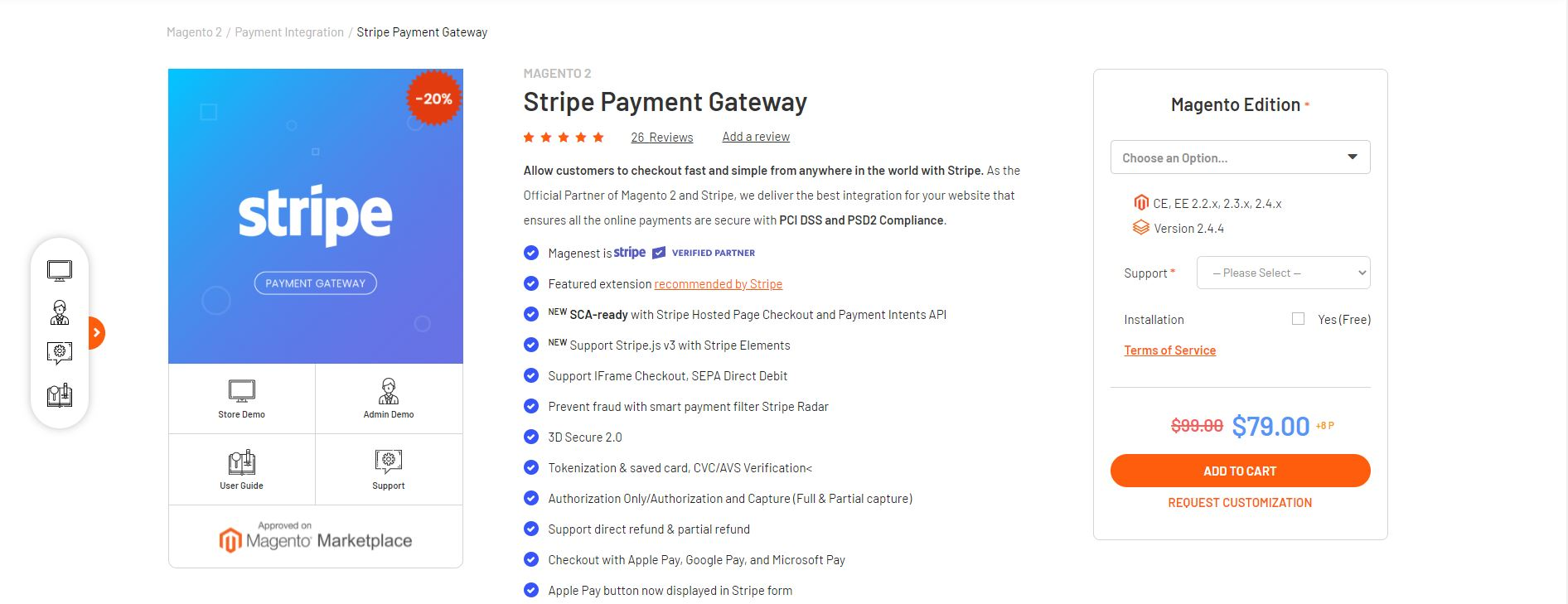 Magento payment gateway extension