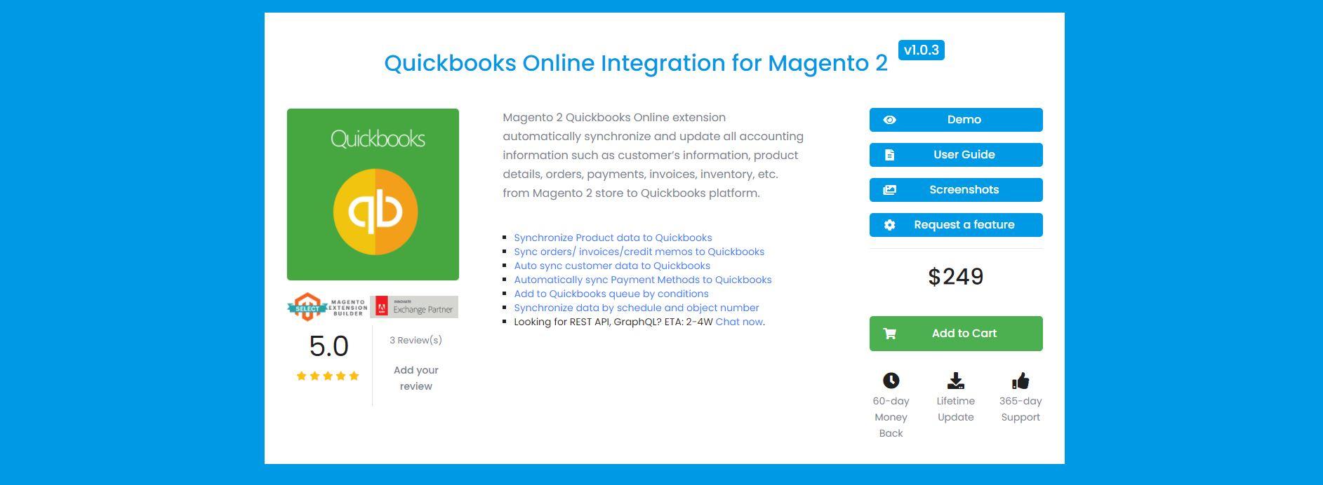 Magento QuickBooks extension