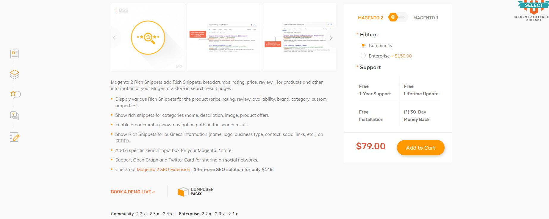 Magento rich snippets extension