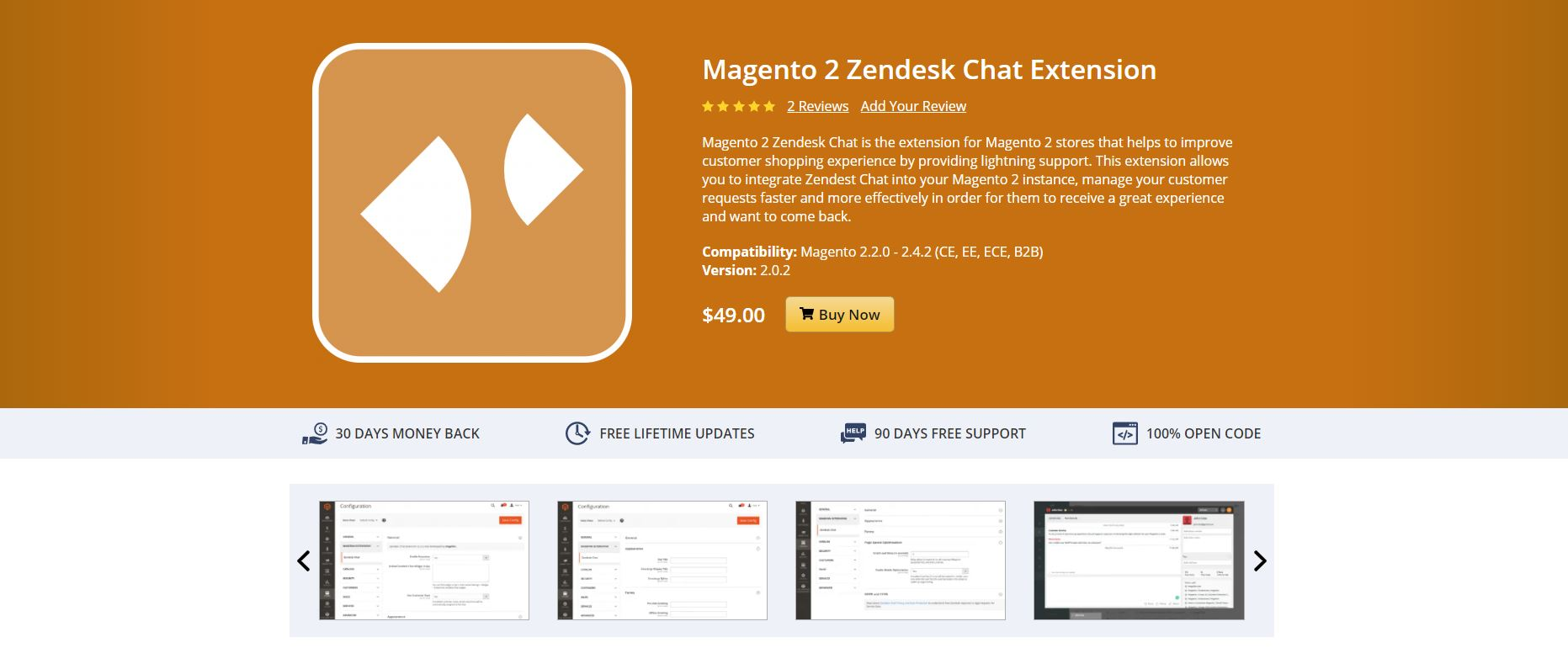 Magento live chat extension