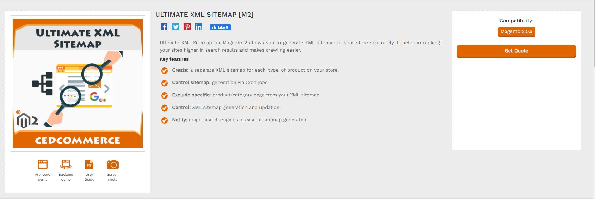 Magento XML Google sitemap