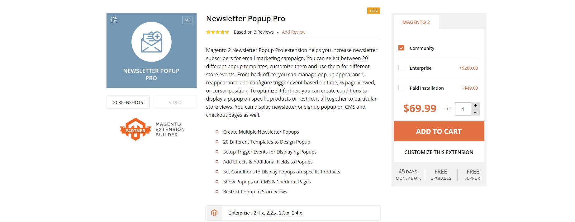 Magento newsletter extension