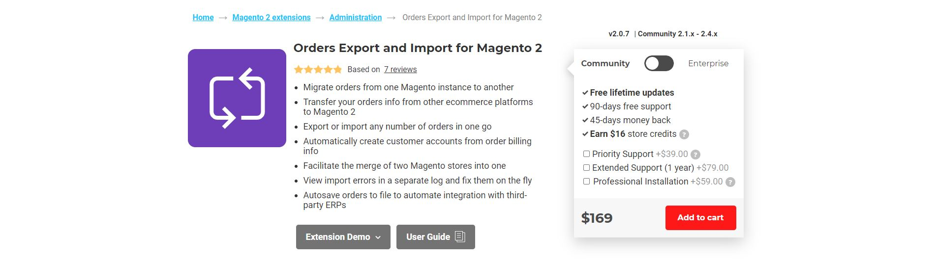 Magento import products extension