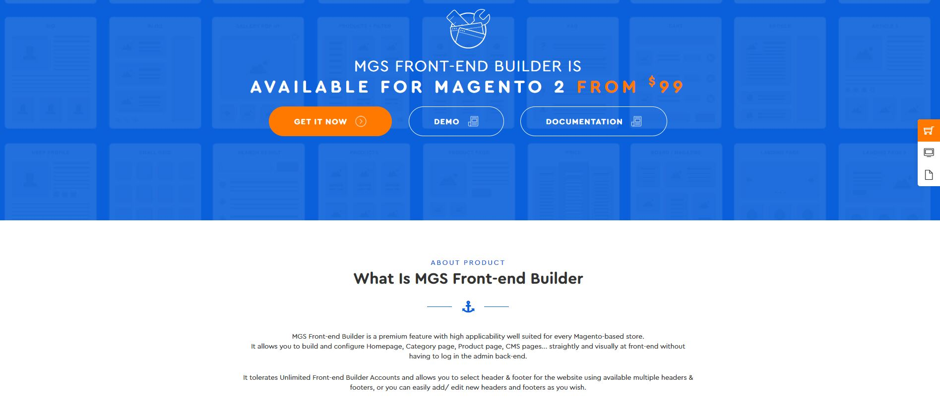 Magento Page Builder extension