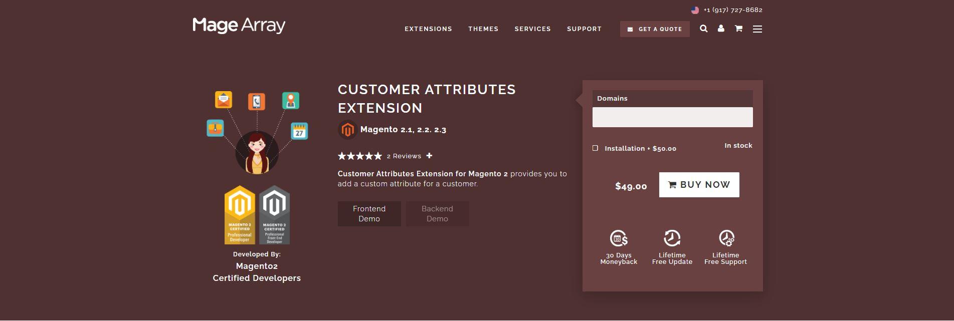 Magento customer attributes extension
