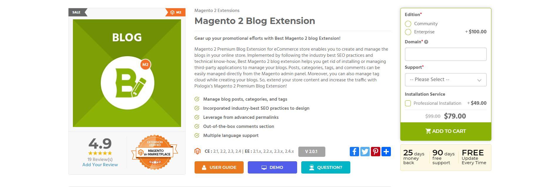 Magento Blog Extension
