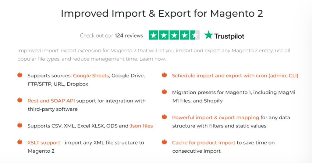 Improved Import and Export