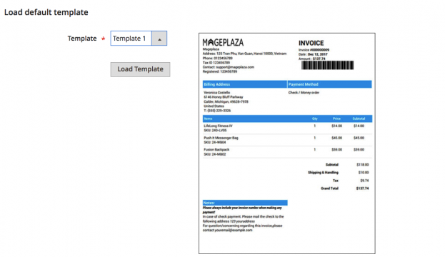 Magento pdf invoice extension by Mageplaza