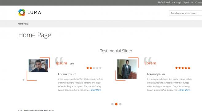 free Magento testimonials extension