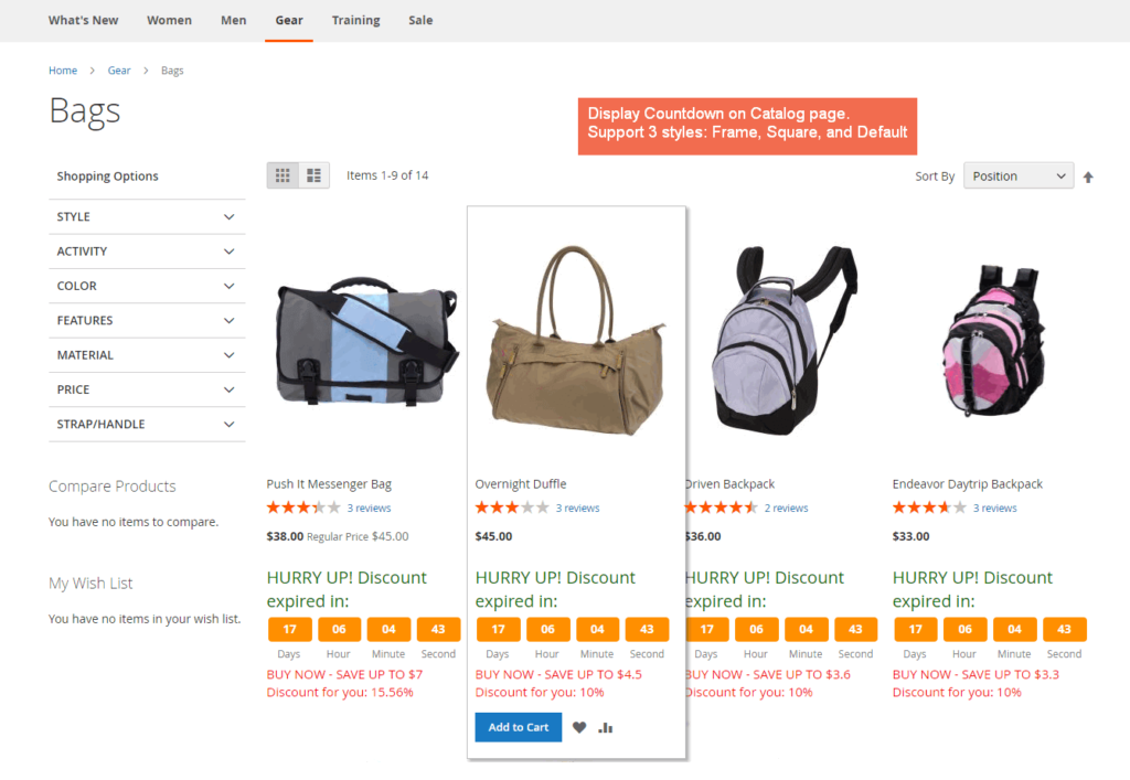Magento countdown timer extension by BSSCommerce