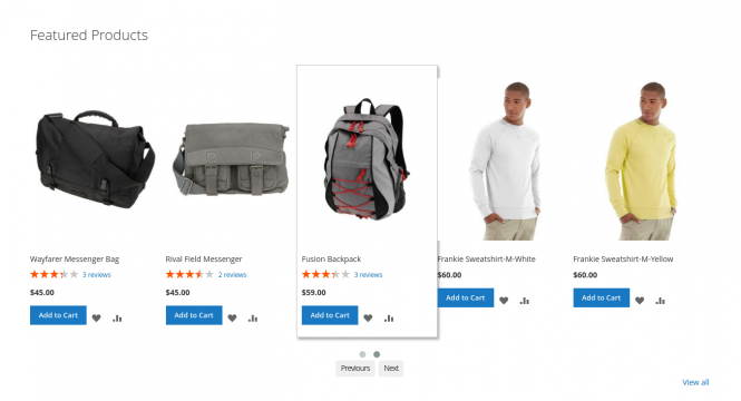 Featured products extension