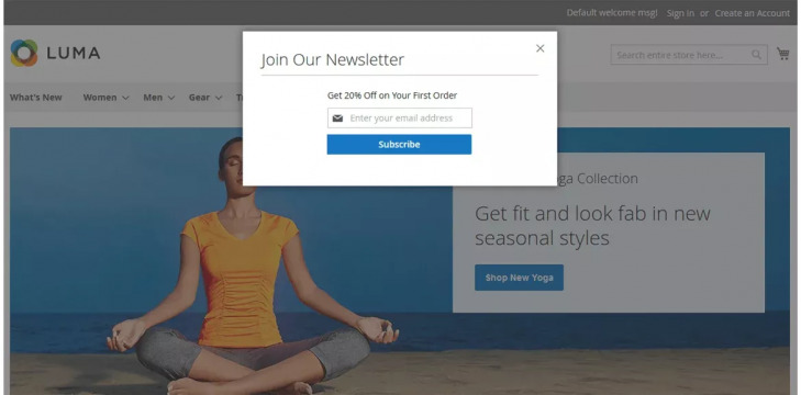 Newsletter Popup by MageComp