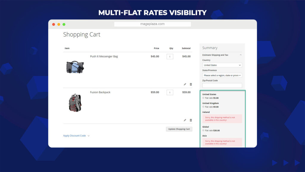 Magento shipping extension by Mageplaze