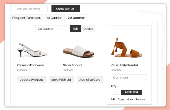 Magento wishlist extension by Bsscommerce