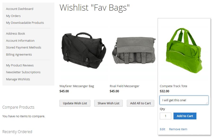 Multiple Wishlists by CreativeMinds