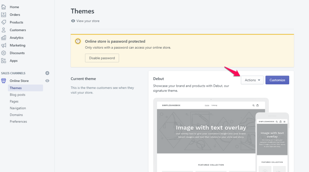 Step 3: Select the theme to edit