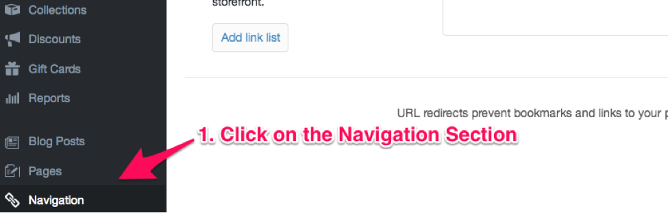 Navigation Section