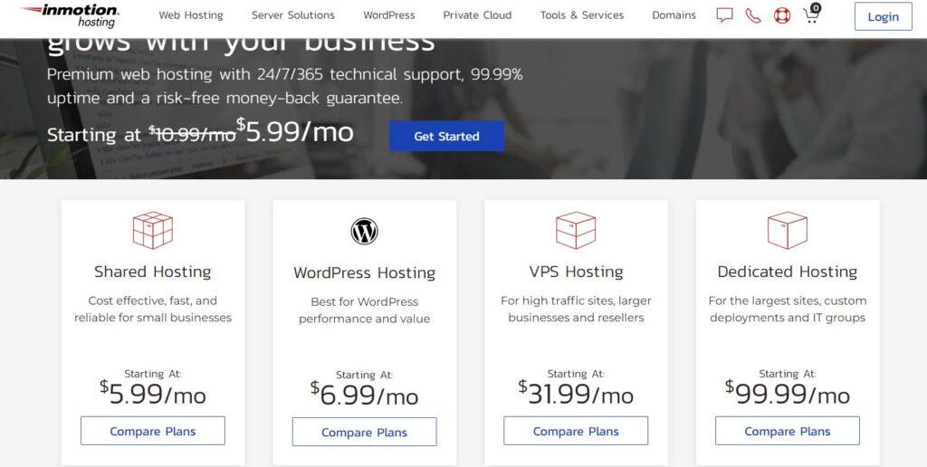 Inmotion - Ecommerce web hosting