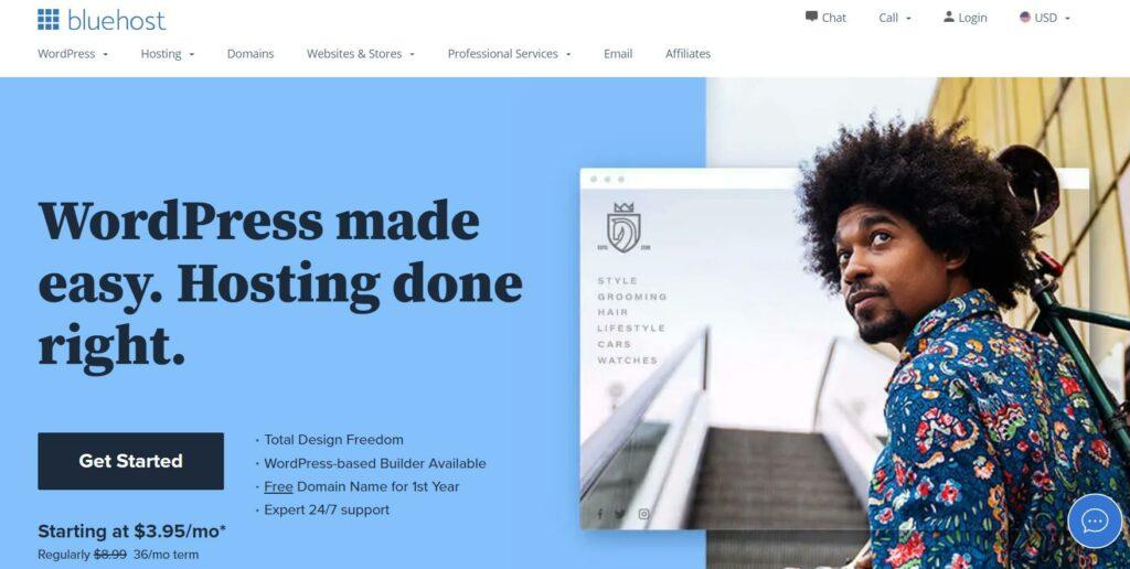 Bluehost - Ecommerce web hosting