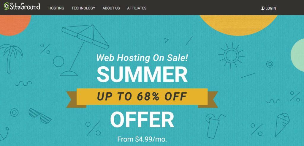 Siteground - Ecommerce web hosting