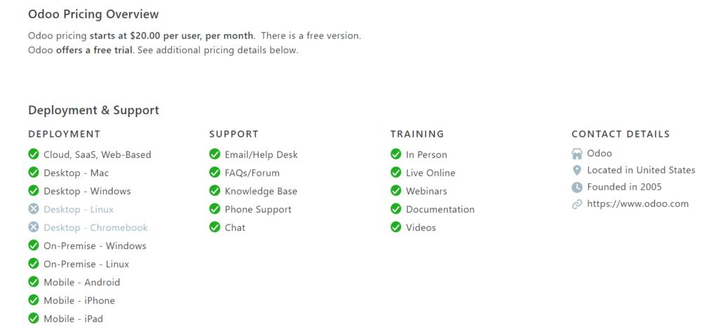 Odoo - open source eCommerce