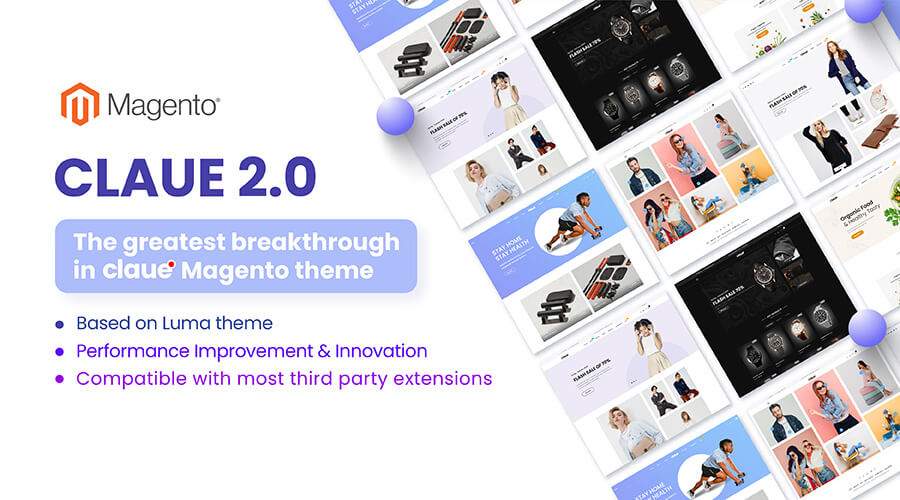 Claue 2.0 handmade Magento theme